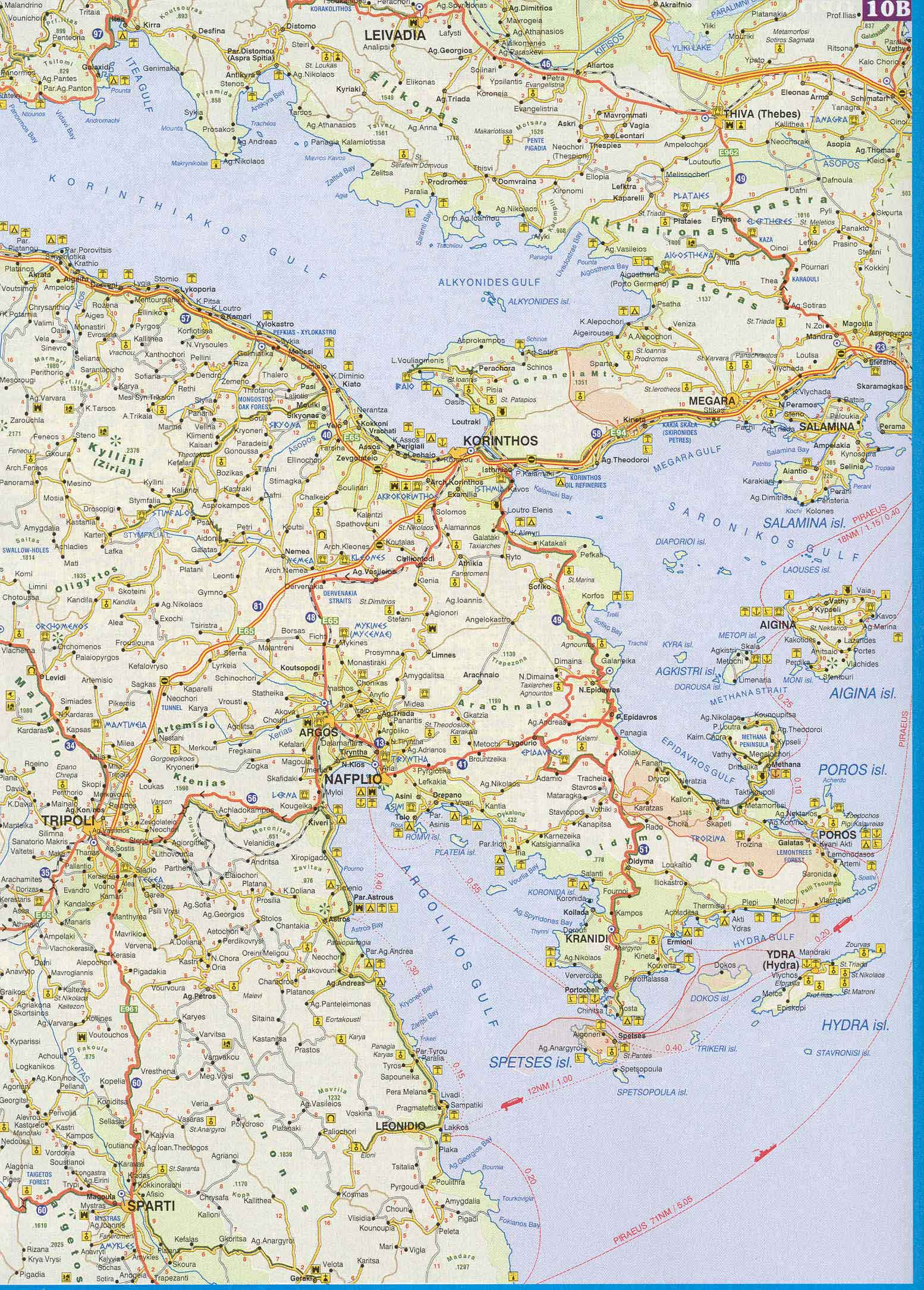 Car Rental With Car Seat >> Maps of Greece. Map of Athens, Peloponnese, Greek Islands ...