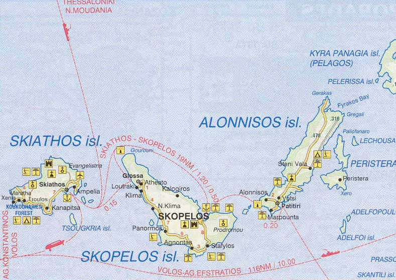 Greece Map Of Skopelos